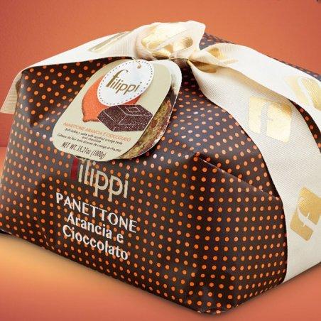 Panettone arancia e cioccolato Filippi - Natale Castroni Roma