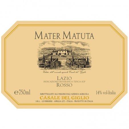Etichetta Mater Matuta - Casale del Giglio - Enoteca Castroni Roma